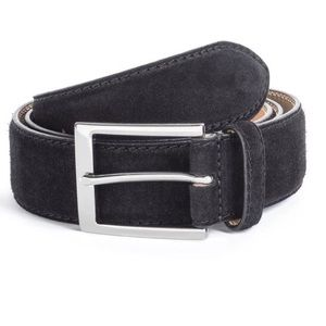 To Boot New York Black Suede Belt